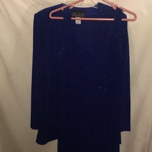 Black Tie ALEX Evenings 2-Pc Midnight Blue Outfit